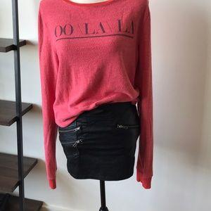 Leather biker skirt